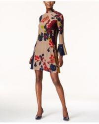 Olivia & Grace - Floral-print Fit & Flare Sweater Dress - Lyst