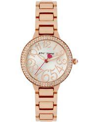 Betsey Johnson - Watch, Women's Rose Gold-tone Stainless Steel Bracelet 32mm Bj00235-02 - Lyst