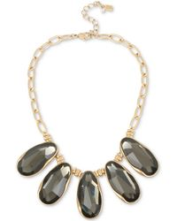 "Robert Lee Morris - Gold-tone Stone Statement Necklace, 16"" + 3"" Extender - Lyst"