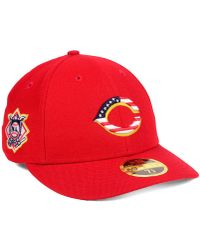 KTZ - Cincinnati Reds Stars And Stripes Low Profile 59fifty Fitted Cap 2018 - Lyst