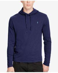 81b5fdffc1 Polo Ralph Lauren Big & Tall Striped Hooded Long-sleeve T-shirt in ...