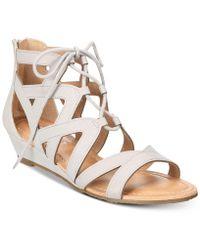 Esprit - Chrissy Lace-up Wedge Sandals - Lyst