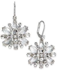 Kate Spade - Crystal Snowflake Drop Earrings - Lyst