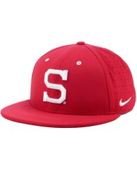 sports shoes 733ed b28ac Nike - Stanford Cardinal Aerobill True Fitted Baseball Cap - Lyst