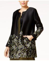 Alfani - Floral-print Scuba Swing Coat - Lyst