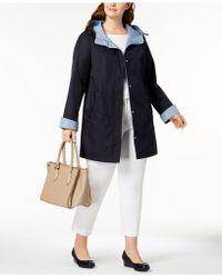 Jones New York - Plus Size Colorblocked Raincoat - Lyst