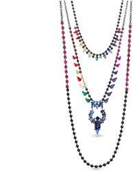 Steve Madden - Rainbow 3 Layered Necklace - Lyst