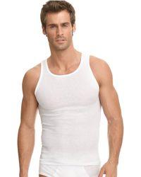 Jockey - Underwear, Classic Ribbed Tagless Tank 3 Pack - Lyst