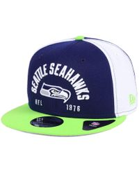 new arrival 5f212 eda92 KTZ Seattle Seahawks Woodland Camo Team Color 9Fifty Snapback Cap in Green  for Men - Lyst