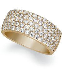 Arabella - Sterling Silver Ring, Swarovski Zirconia Pave Band - Lyst