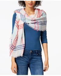 INC International Concepts - I.n.c. Colored Up Plaid Wrap, Created For Macy's - Lyst