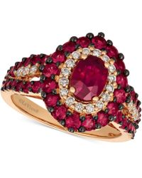 Le Vian - Passion Rubytm (2 Ct. T.w.) & Diamond (1/4 Ct. T.w.) Ring In 14k Rose Gold - Lyst