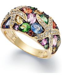 Effy Collection - Watercolors By Effy Multistone And Diamond Starfish Ring (3-1/2 Ct. T.w.) In 14k Gold - Lyst