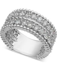 Macy's - Diamond Rope-style Two-row Statement Ring (2-1/2 Ct. T.w.) - Lyst