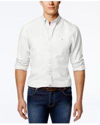 Tommy Hilfiger - New England Solid Oxford Shirt - Lyst