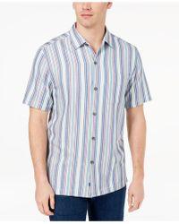Tommy Bahama - Tropical Stripe Silk Shirt - Lyst