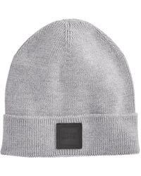 BOSS - Cuffed Knit Hat - Lyst