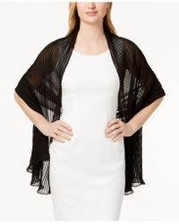 Betsey Johnson - Solid Georgette Pleated Evening Wrap - Lyst