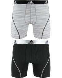 adidas - Men's 2-pk. Sport Performance Climalite® Graphic Boxer Briefs - Lyst