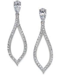 Danori - Silver-tone Pavé Drop Earrings - Lyst