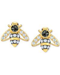 Swarovski - Gold-tone Crystal Bee Stud Earrings - Lyst