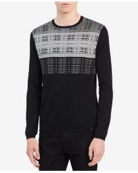 CALVIN KLEIN 205W39NYC - Men's Fancy Grid Sweater - Lyst