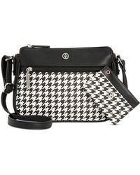 Giani Bernini | Houndstooth Small Crossbody & Card Case | Lyst