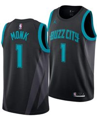 4b1920e496f adidas Kids' Kemba Walker Charlotte Hornets Swingman Jersey in Blue ...