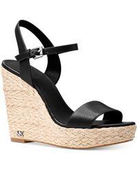 Michael Kors | Michael Jill Espadrille Wedge Sandals | Lyst