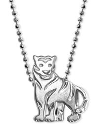 "Alex Woo - Mini Tiger 16"" Pendant Necklace In Sterling Silver - Lyst"