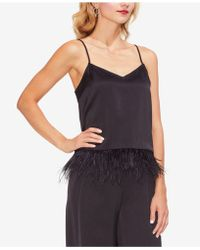 Vince Camuto - Feather-hem Satin Camisole - Lyst