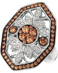 Le Vian - Chocolatier® Chocolate Decotm Diamond Statement Ring (1-1/8 Ct. T.w.) In 14k White Gold - Lyst