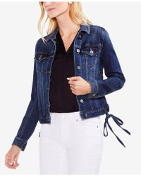 Vince Camuto - Laced-side Denim Trucker Jacket - Lyst