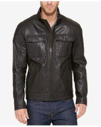 Cole Haan - Men's Leather Trucker Jacket - Lyst