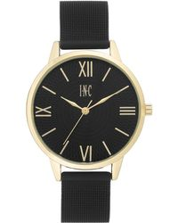 INC International Concepts - Black Stainless Steel Mesh Bracelet Watch 38mm, Created For Macy's - Lyst