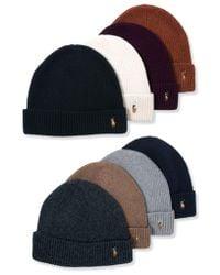 Polo Ralph Lauren - Hat, Wool Signature Cuff - Lyst