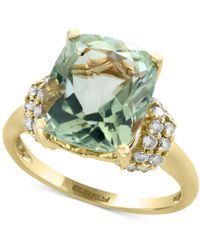 Effy Collection - Green Amethyst (5-1/4 Ct. T.w.) And Diamond (3/8 Ct. T.w.) Ring In 14k Gold - Lyst