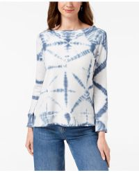Style & Co. - Cotton Tie-dyed Sweatshirt, Created For Macy's - Lyst