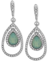 Givenchy - Crystal & Stone Orbital Large Drop Earrings - Lyst