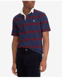 3a73556eb ... buy polo ralph lauren iconic cotton striped rugby shirt lyst 67d90 754a4