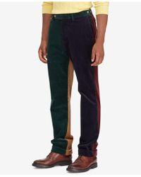 Polo Ralph Lauren - Colorblocked Corduroy Classic Fit Stretch Pants - Lyst