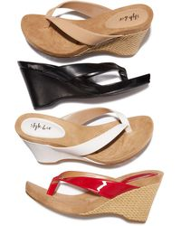 Style & Co. - Chicklet Wedge Sandals - Lyst