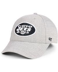 online retailer 633d9 45c4a 47 Brand - New York Jets Heathered Black White Mvp Adjustable Cap - Lyst
