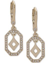 Ivanka Trump - Gold-tone Crystal Drop Earrings - Lyst