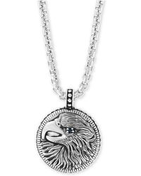 """Effy Collection - Black Spinel Eagle 22"""" Pendant Necklace In Sterling Silver - Lyst"""