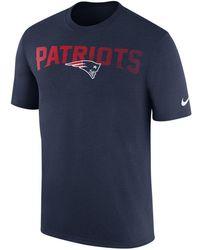 Lyst - Nike New England Patriots Legend Sideline Team T-shirt in ... 328fb56ac