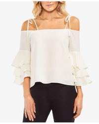 Vince Camuto - Off-the-shoulder Ruffle-sleeve Top - Lyst
