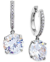 Kate Spade - Silver-tone Crystal And Pavé Drop Earrings - Lyst