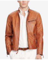 Polo Ralph Lauren - Men's Cafe Racer Leather Jacket - Lyst