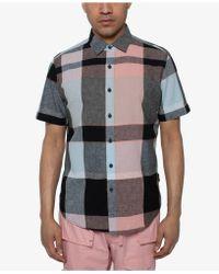 Sean John - Large Scale Plaid Shirt - Lyst